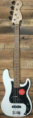 Squier by Fender Affinity PJ Precision Bass Electric Guitar - Olympic White NEW