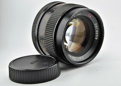 Carl Zeiss Contax Lens PLANAR 50mm F1.4 T*  C/Y Mount USED FREE SHIPPING !!!!