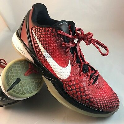 1cedd11a1574 NIKE ZOOM KOBE 6 VI 2011 ALL STAR 448693 600 SZ 13 47.5 RED BLACK Grinch