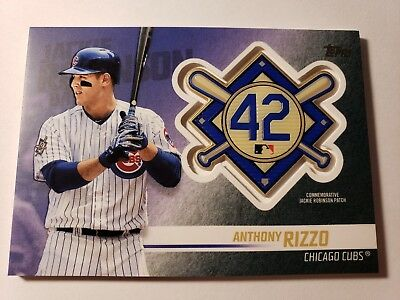 Anthony Rizzo 2018 Topps Baseball Update Series Jackie Robinson Patch #JRP-AR