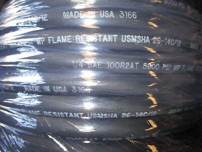 "Goodyear Hydraulic Hose 100R2At-4 1/4"" 5000 Psi 250' Feet Two Wire Hose"