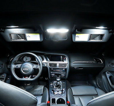 7x LED Innenraumbeleuchtung Set Audi A4 S4 B8 8K2 Limo ab 2008 WEISS CANBUS VHK