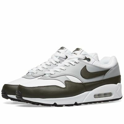 timeless design 1260f 0f2fd 2018/19 NIKE AIR Max 90/1 Leather Trainers, White-Khaki (AJ7695-107), All  Sizes