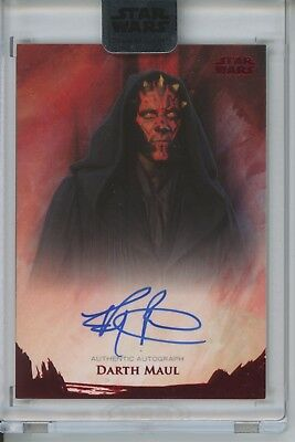 2018 Topps Star Wars STELLAR SIGNATURES Ray Park RED Auto #1/1 Darth Maul