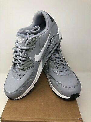 huge selection of 25774 bddad Nike Air Max 90 Womens 325213-048 Dark Wolf Grey White Running Shoes Size 11
