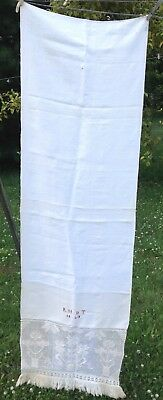Antique Show Towel Embroidered 1840