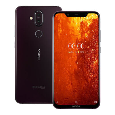 NEW Nokia 8.1 (TA-1119) 6.18-Inch 4GB / 64GB LTE Dual SIM UNLOCKED IRON