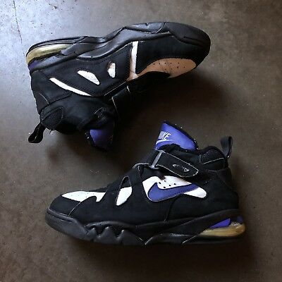 c8dbc45b35b66 Men's Vintage OG 1993 Original Nike Air Force Max CB Charles Barkley Black  Sz 10
