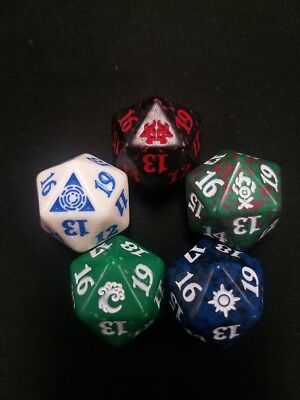 Magic: the Gathering MTG RAVNICA ALLEGIANCE PRERELEASE 20 SIDED DICE PROMO SET