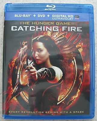 170864 Blu-Ray The Hunger Games CATCHING FIRE Disc & Box NEW