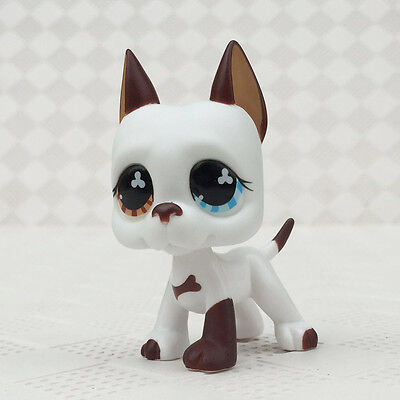 LPS Toys Rare Littlest Pet Shop White Great Dane No Magnet Animals Figures Gifts