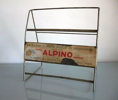 Insegna Tabella Espositore Vintage Alpino - Rodolfi Parma Exhibitor Table Sign