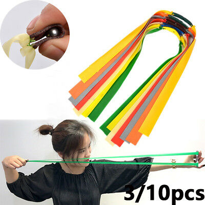 3/10Pcs Slingshot Flat Rubber Band Hunting Outdoor Shooting Game Catapults