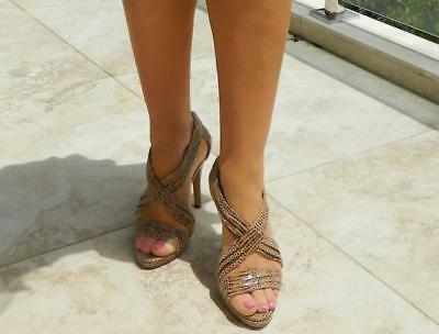 VINTAGE Skin by NUDE Leather High Heels Size 40