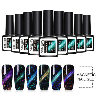 LEMOOC 8ml Magnetic Cat Eye UV Gel Nail Polish Soak Off Gel Varnish  DIY