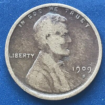 1909 S Wheat Penny Lincoln Cent 1c nice coin RARE Key Date San Francisco #8782