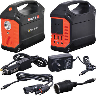100W 240V Portable Solar Power Generator with 2.1mm DC & USB Outputs