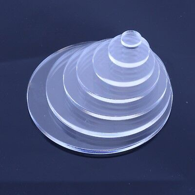 Clear Plastic Circles / Laser Cut Acrylic Disc - ALL SIZES - Custom Sizes