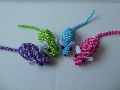 Cat Kitten Toy, Striped Mouse with Stretchy Tail x 2 (J4C05)