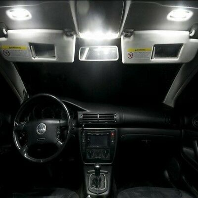 LED Set Innenraumbeleuchtung VW Polo V 6R 6C GTI GT 10 LED 4014 Innenraum WEISS