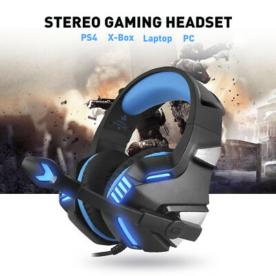 Wired Gaming Headset Stereo Bass Over Ear Earphone for PS4 Xbox One Smartphone
