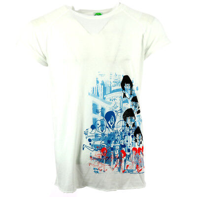 The Beatles Fab Four Annimation Men's T-shirt White Official Licensed Music