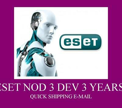 ESET NOD32 Antivirus 2019 Global Worldwide | 3 YEARS | 3 dev| NOD 32 | Online.