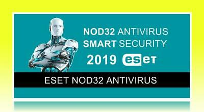 Eset NOD32 Antivirus - Version 2019 Global Worldwide 1 device for 2 Years!