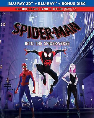 Spider-man: Into the Spider-Verse (Blu-ray 3D + Blu-ray) (Region Free) (NEW)