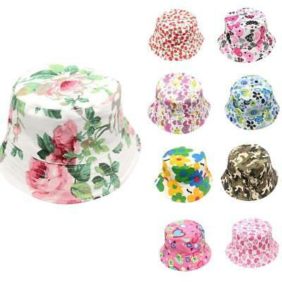 KIDS BUCKET HAT Floral Camouflage Girls Boys Cotton Sun Cap Fishing ... 40bf00253cd1