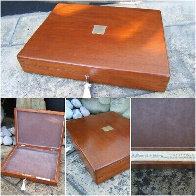 Lovely Large 19C Mahogany Antique Document/jewellery Box  Fab Interior