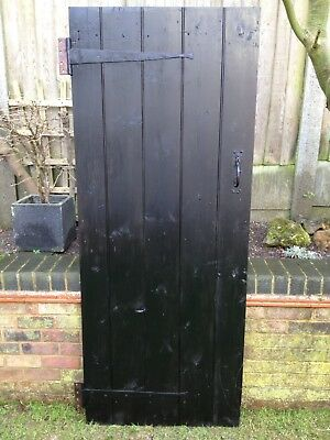 Antique Door Old Pine Ledge & Brace Salvage Old Vintage Period Architectural