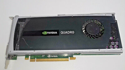 NVIDIA QUADRO 4000 Gf100 2 Gb Ram Pci-Ex16 Dvi/2 X Display Port Used