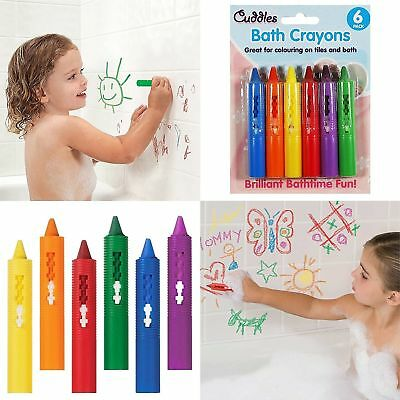 5 X Kids Baby Washable Bath Crayons Non Toxic Wipeable Drawings Fun Toy Pens