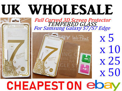 Tempered Glass Screen Protector For Samsung Galaxy S7/S7 Edge Wholesale /Job Lot