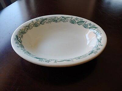 Vintage Mayer China Oval Serving Bowl Restaurant Ware Marilyn Pattern Green/Teal
