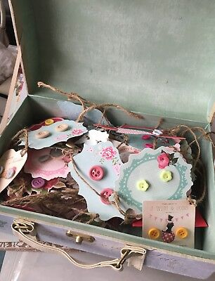 Wholesale Craft Stall Job Lot 20 Pairs Handmade Button Earrings