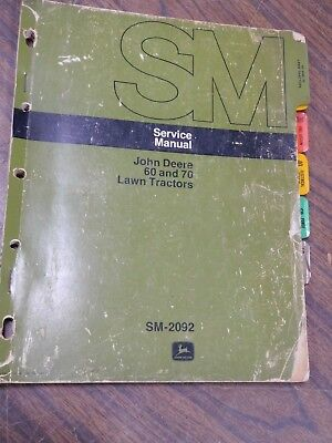 john deere sabre lawn tractor mower service technical manual tm1769 download