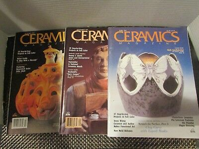 Ceramics Magazines 1991 Set of 3 Very Nice!