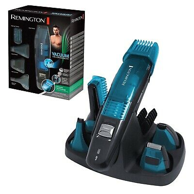 Remington Mens 5 in 1 Grooming Kit Vaccum Technology Titanium Blades Lithium