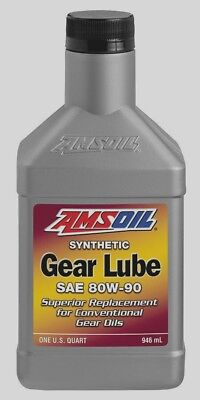 Amsoil Synthetic 80W-90 Gear Lube   1 quart