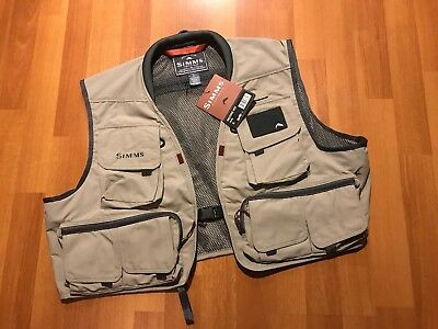 Simms Freestone Fishing Vest Mens Size Xl Extra Large Khaki Color New With Tags