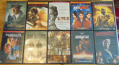 Lot of 10 ACTION THRILLER DVDs - Will Smith  Tom Hanks  Paul Newman  Ice T +