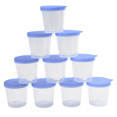 40ml Lab stool sample collection cup hard plastic urine test collection box FO