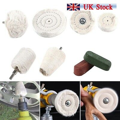 9x Polishing Buffing Kit for Aluminium Steel Brass Plastic for Drill Tools New