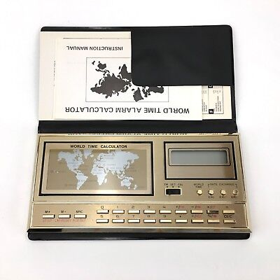 World Time Calculator 8 In 1 World Time Alarm Chime Rate Exchange Watch Calendar