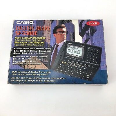 Casio Sf-5300E // Digital Diary / Vintage Calculator 64Kb Milti Lingual Messages
