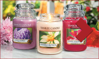 BN Home fragrant Various different size & scents of Yankee Candle Glass jars-new