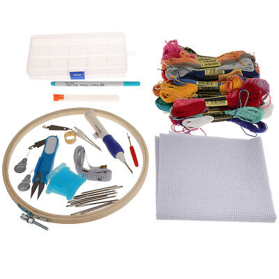 Kreuzstich Stickerei Set Embroidery Starter Kit Stickpackung 50 Farben