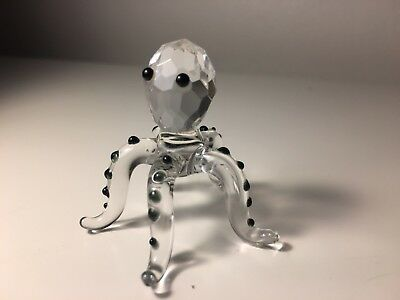 Crystal Glass Octopus Ornament
